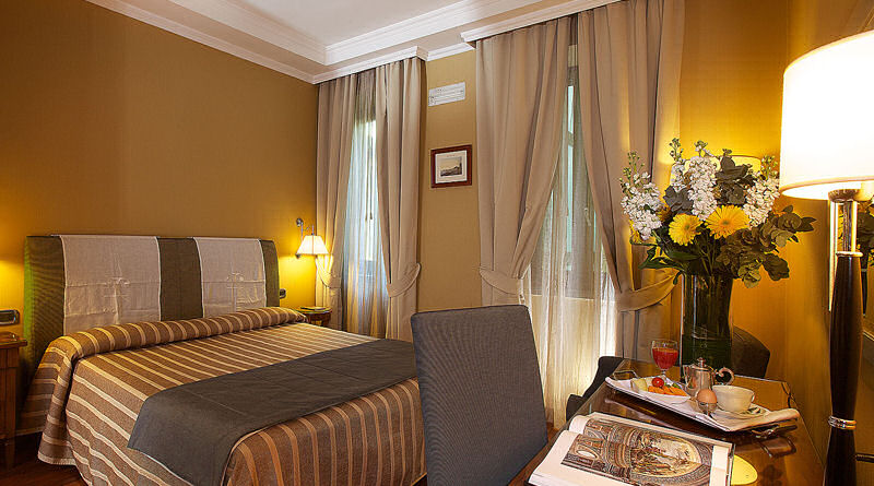 Guest room of the Hotel palazzo Turchini, Naples Italy