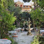 Gareden of the Hotel Flora, Venice Italy