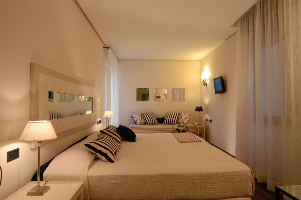 Guest room of the Hotel Mastino, Verona Italy