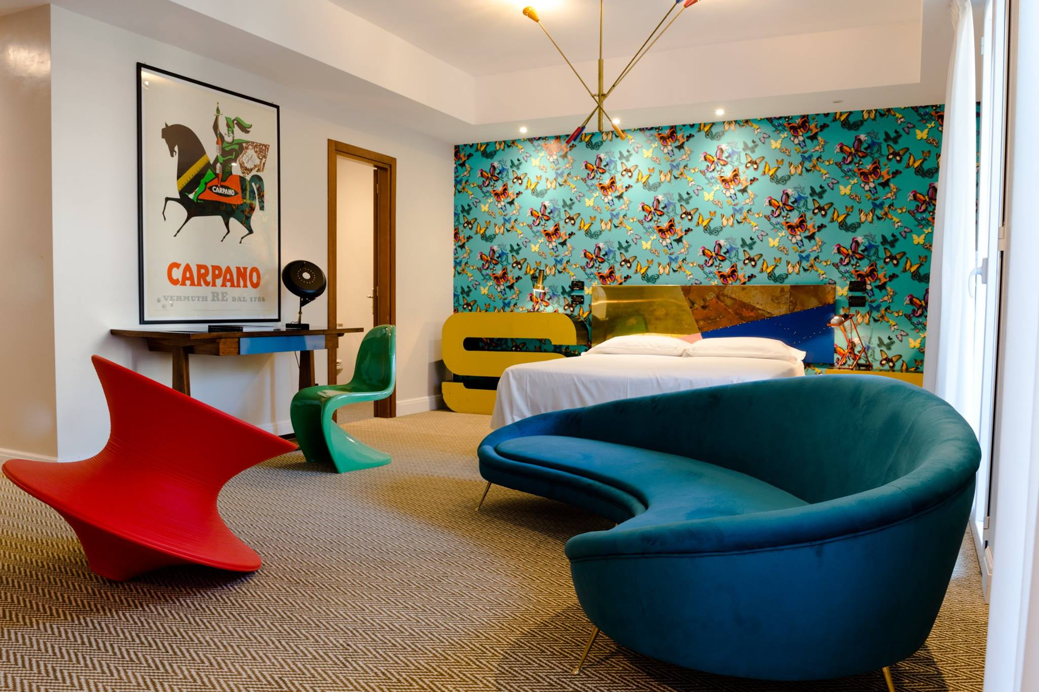 Guest room of the Hotel Trieste Verona Italy