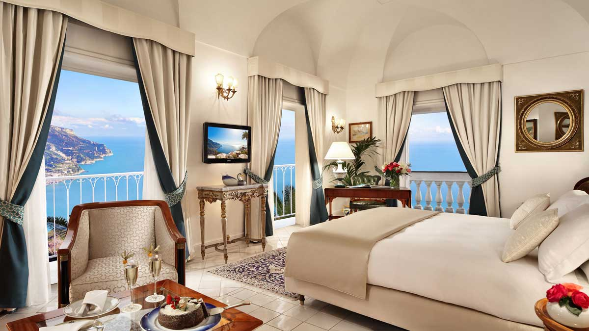Junior Suite of Palazzo Avino luxury hotel Ravello (Amalfi coast, Italy)